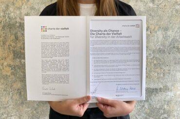 Wir haben die CHARTA DER VIELFALT unterzeichnet!